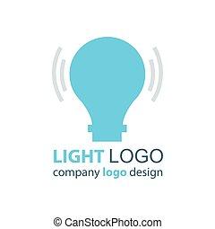 luce blu, disegno, logotipo