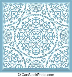 luce blu, disegno, sciarpa