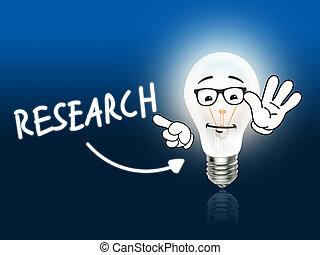 luce blu, energia, ricerca, lampada, bulbo