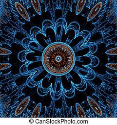 luce blu, fiore