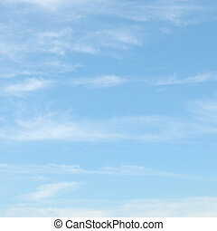 luce blu, nubi, cielo