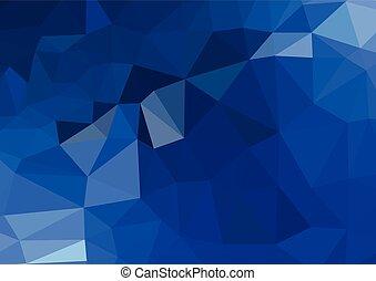 luce blu, polygonal, mosaico, fondo, vettore, illustrazione, affari, disegnare sagome