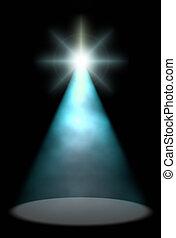 luce blu, sfondo scuro, bagliore, palcoscenico