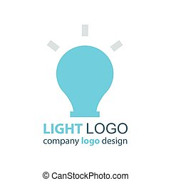 luce blu, vettore, disegno, logotipo