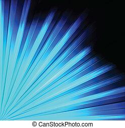 luce blu, vettore, fondo, scoppio