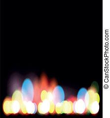 luce, bokeh, notte