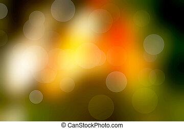 luce, bokeh, sfondo giallo