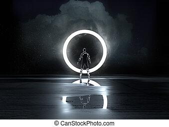 luce, cerchio