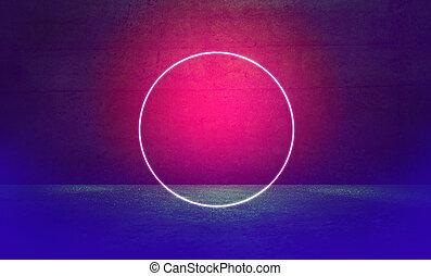 luce, cerchio, riflettore