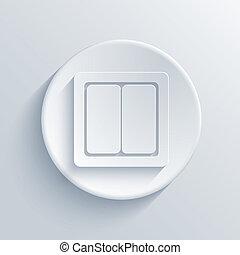 luce, cerchio, vettore, eps10, icon.