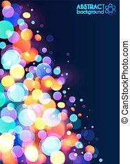 luce colorita, astratto, bokeh, effetto, luminoso, fondo