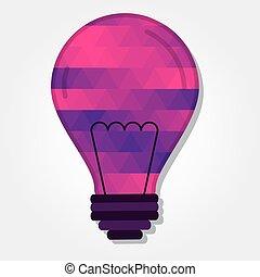 luce, colorito, triangoli, bulbo