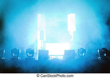 luce, concerto, palcoscenico vuoto