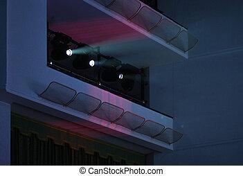 luce, concerto, riflettori, salone