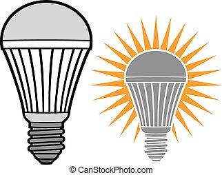 luce, condotto, bulbo
