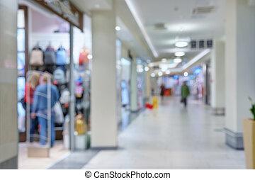 luce, corridoio, in, il, centro commerciale
