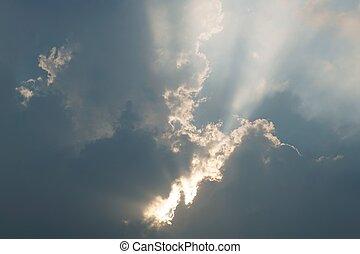 luce, di, il, sole