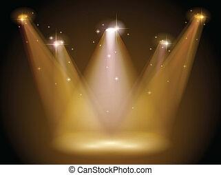 luce, e, palcoscenico