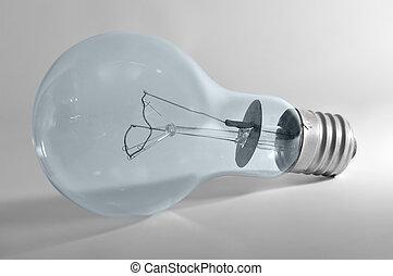 luce elettrica, bulbo