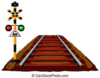 luce, ferrovia, treno, traffico