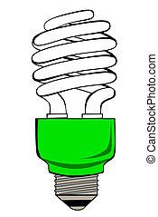 luce fluorescente, bulbo