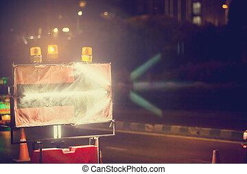 luce fluorescente, mostra, freccia