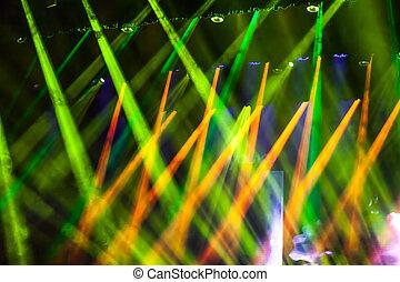 luce, fondo, palcoscenico