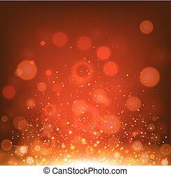 luce, fondo, sagoma, rosso