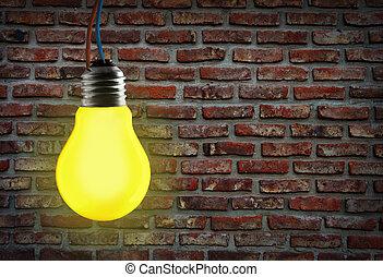 luce gialla, bulb.