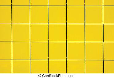 luce, giallo, metallico, fondo, facciata, pannello