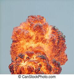 luce giorno, esplosione