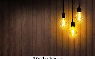 luce, girato, on., bulbo