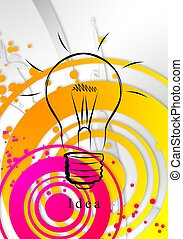 luce, idea, affari, bulbo
