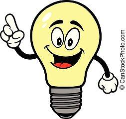 luce, indicare, bulbo