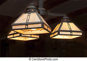 luce, lampada, infisso
