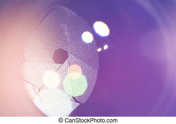 luce, lente, macchina fotografica, macro, reflections., concepts., lense, intonando