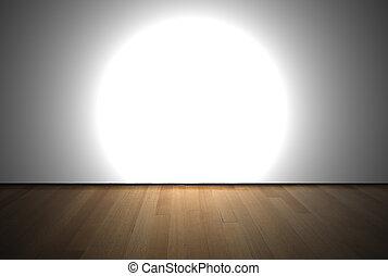 luce, macchia, stanza, vuoto
