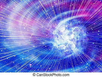 luce, sfondi, bellezza, stelle, spazio