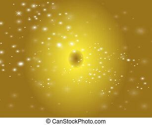 luce, sfondo giallo, onda