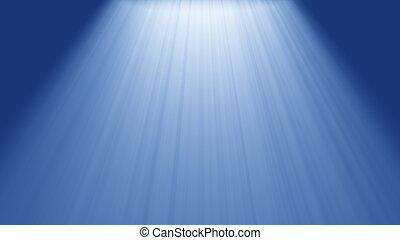 luce sole, in, il, mare
