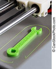 luce, stampa, verde, filamento, 3d