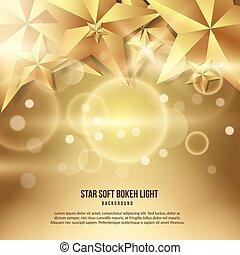 luce, stella, oro, fondo