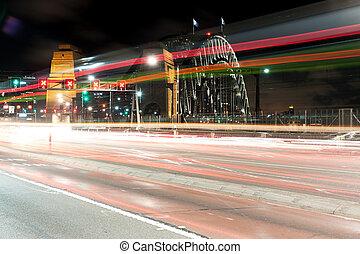 luce, traffico, traccia, segno, scia