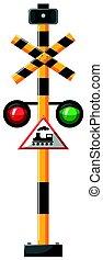 luce, treno, verde rosso, segno