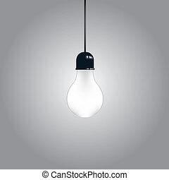 luce, uno, bulbo