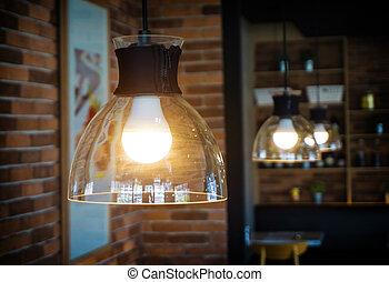 luce, uno, light., bulbo