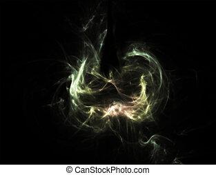 luce, wisp, -, arte, astratto, aroma, wisps, fumo