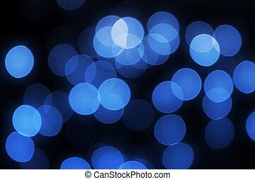 luces azules, desenfocado
