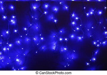 luces azules, fue adelante