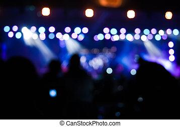 luces, bokeh, concierto